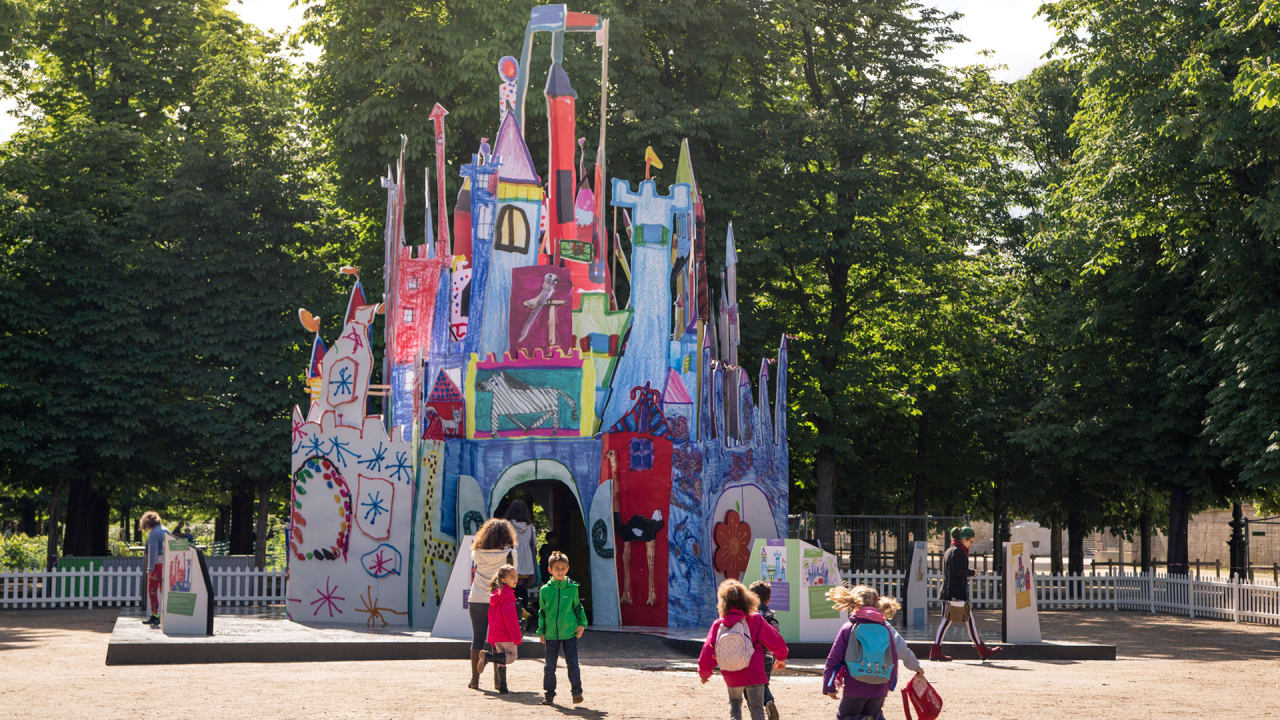 Disneyland Paris Made A Castle Out Of Kids Drawings