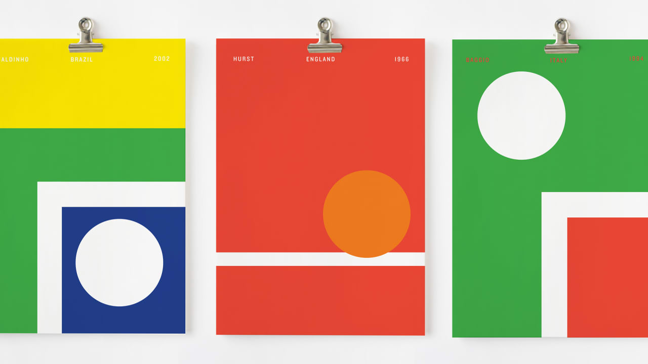 Soccer History And Minimalism Meet In These Striking World Cup Posters