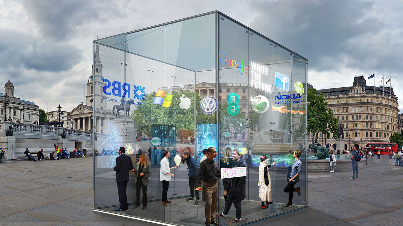 A Network Of Transparent Futuristic Offices Created For The Mobile, Urban Workforce