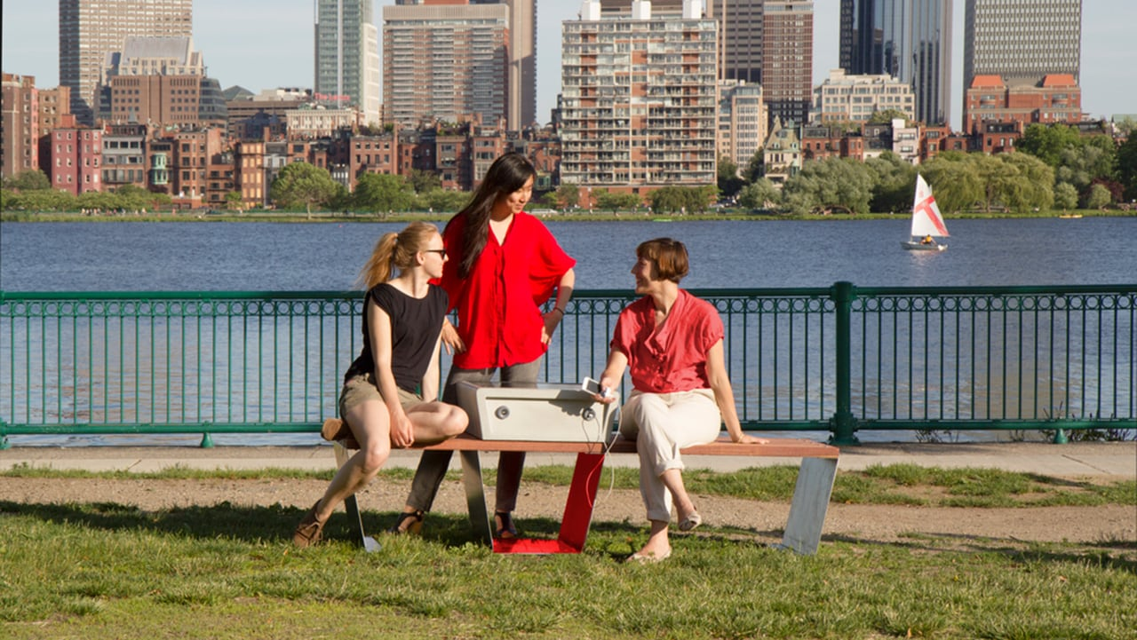 Boston Is Getting Solar-Powered Park Benches That Charge Your Devices