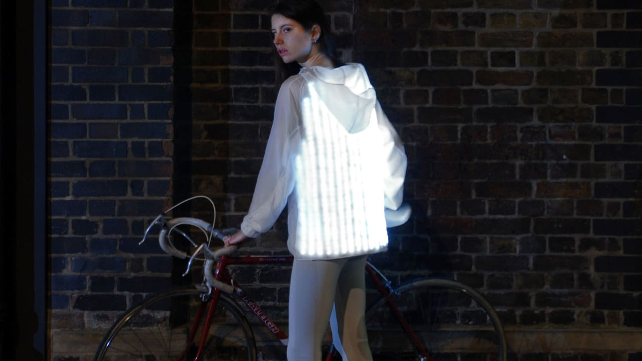 This Bio-Inspired Bike Jacket Flashes When Drivers Get Too Close