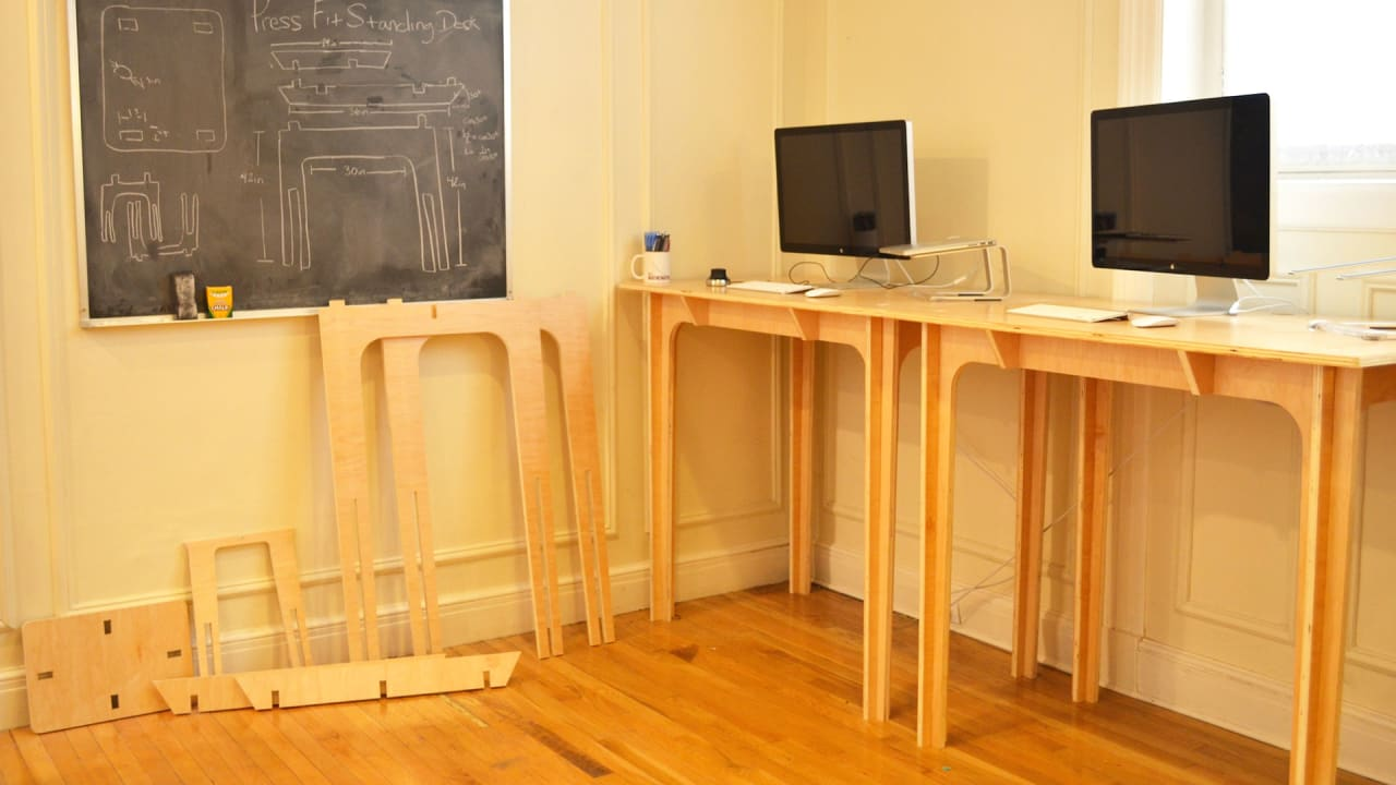 This Affordable Standing Desk Fits Together Like A Jigsaw, No Screws Required