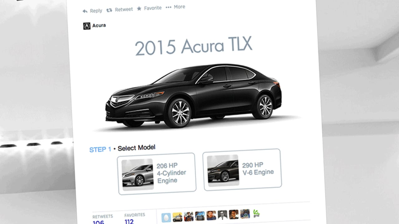 With A Twitter Card Tweak, Now You Can Design Your New Acura In A Tweet