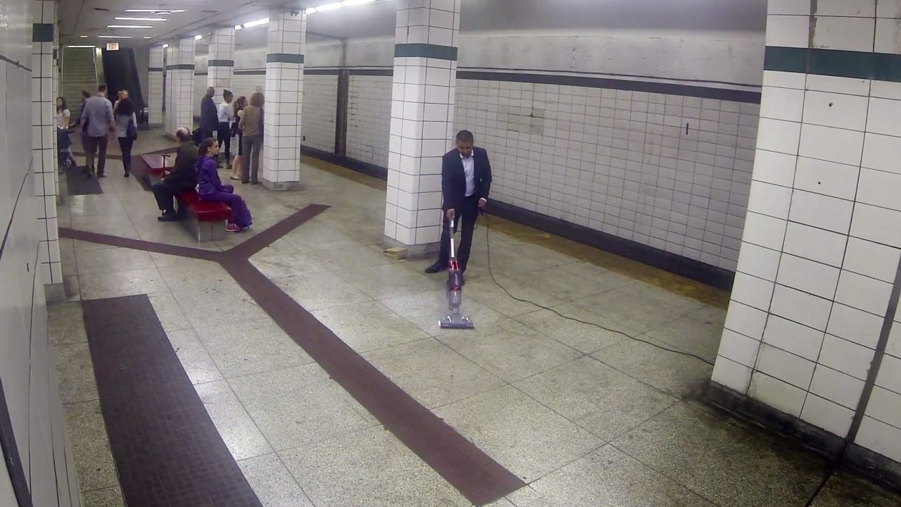 This Brand Manager Trusts His Product Enough To Eat Food Off A Crowded Subway Platform