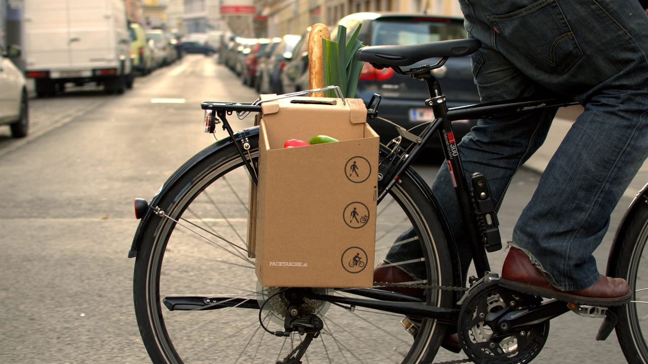 These Cardboard Cargo Carriers Fold Together In Seconds So Cyclists C