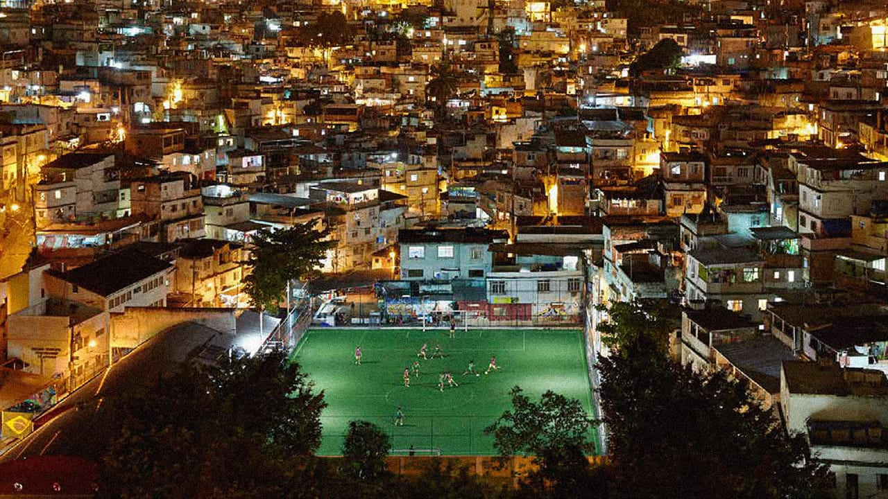The Lights On This Soccer Field Are Powered As Players Run Out In Stadium Battery Is Source Of Electricity Our