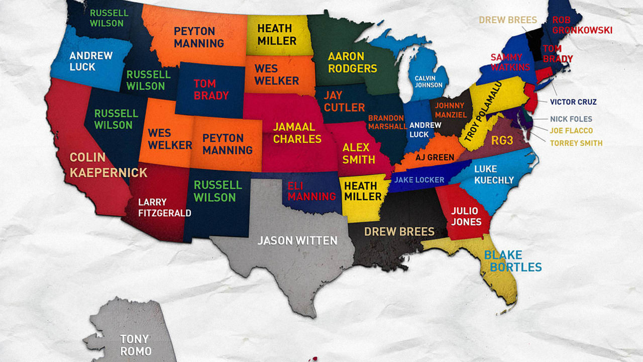 purchase cheap 17c0c 99231 This Interactive Map Shows The Best-Selling NFL Jerseys ...