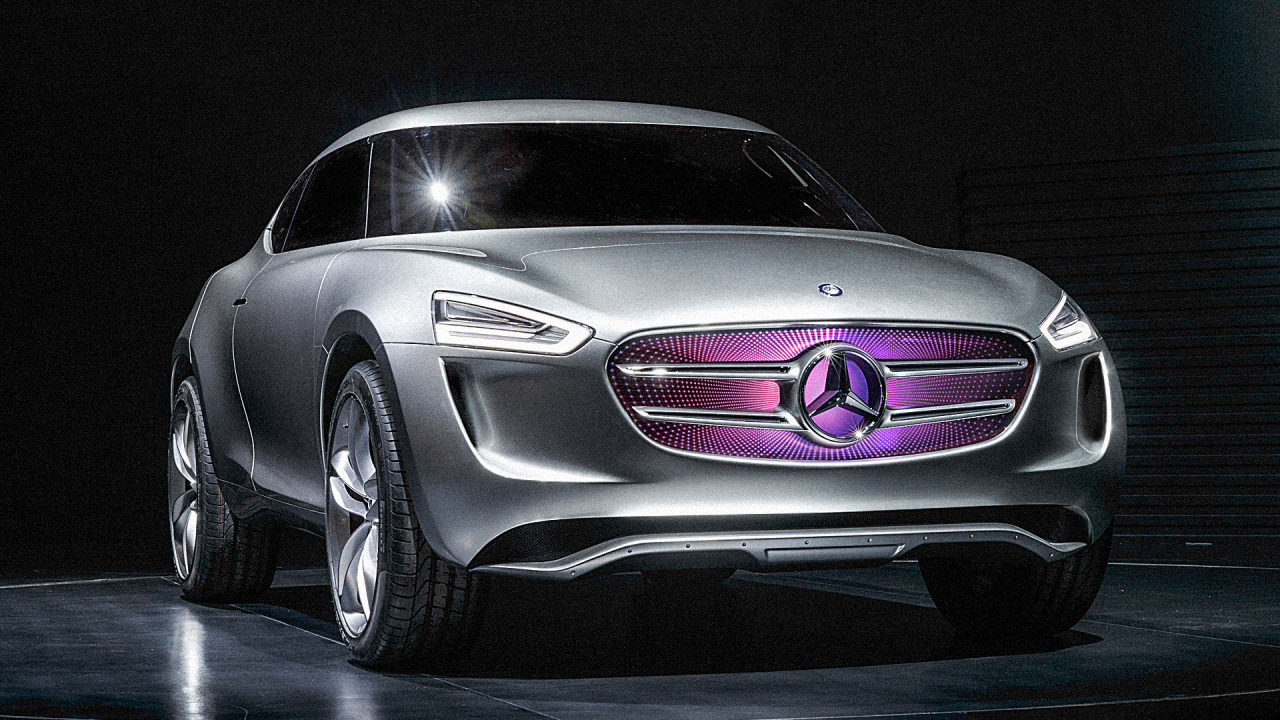 This Concept Mercedes Generates Power From Its Paint Job