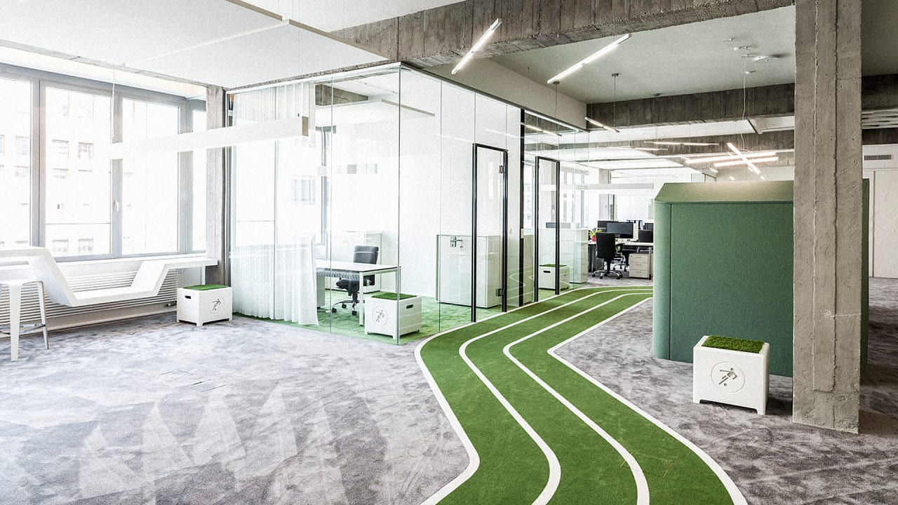 This Office Has A Running Track