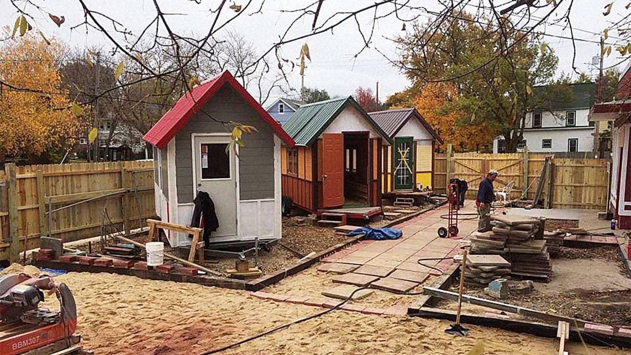 Activists Turned A Wisconsin Gas Station Into A Tiny Village for the Homeless