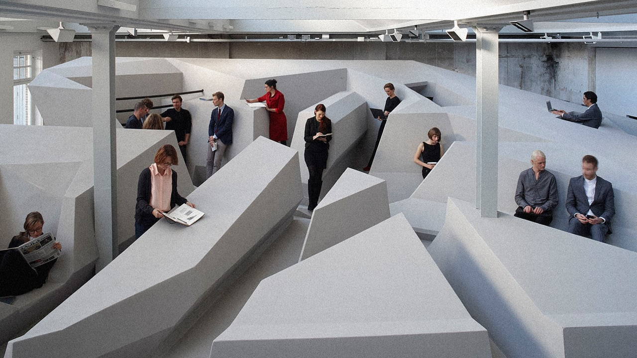 This Futuristic Office Doesn't Have Chairs And Desks