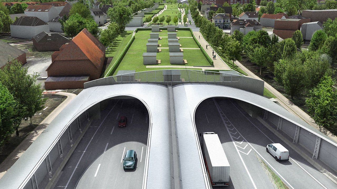 They're Going To Bury A Stretch Of German Autobahn And Cover It In Parks