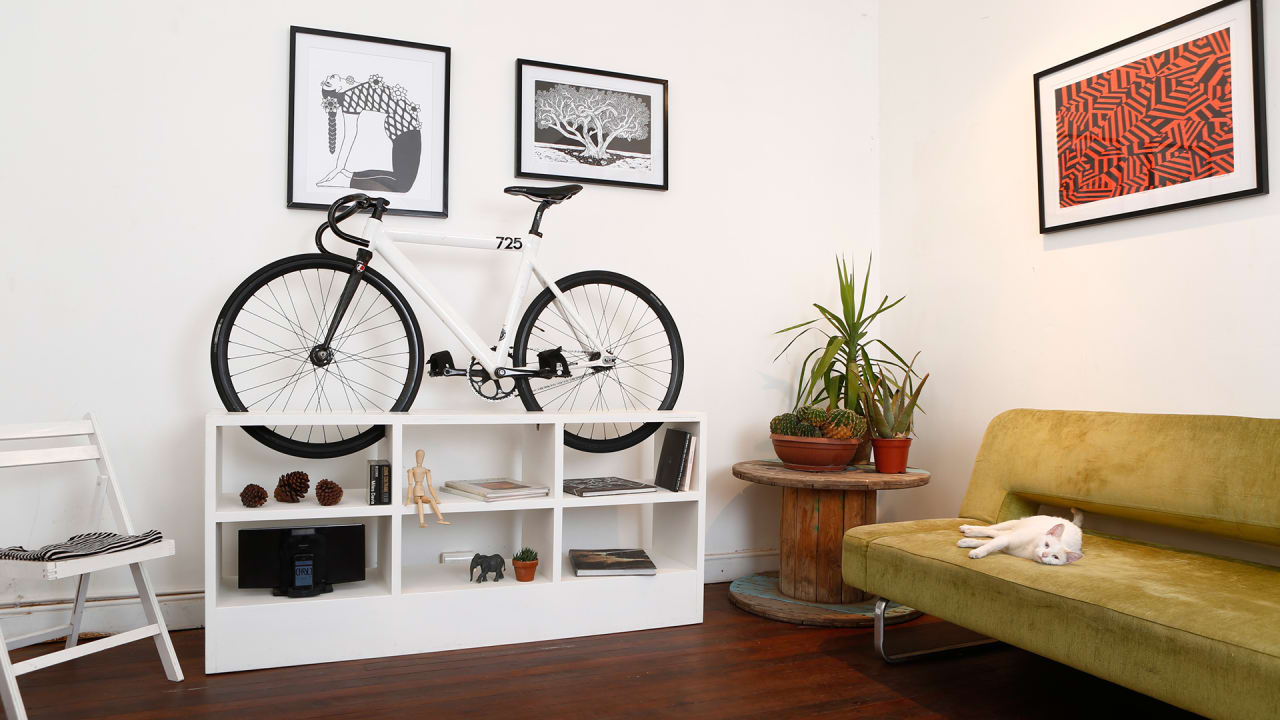 This Furniture Doubles As Beautiful Bike Storage For Tiny Apartments