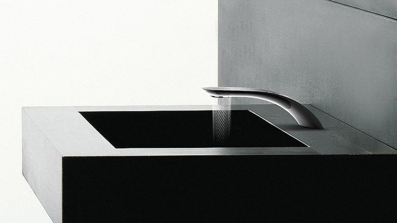 This Mesmerizing Faucet Saves Water By Creating Beautiful Spirals