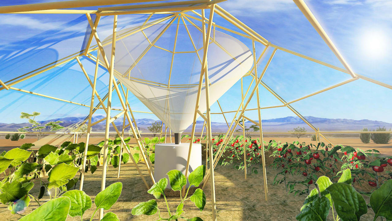 This Dew-Harvesting Greenhouse Waters Itself–And Then Makes