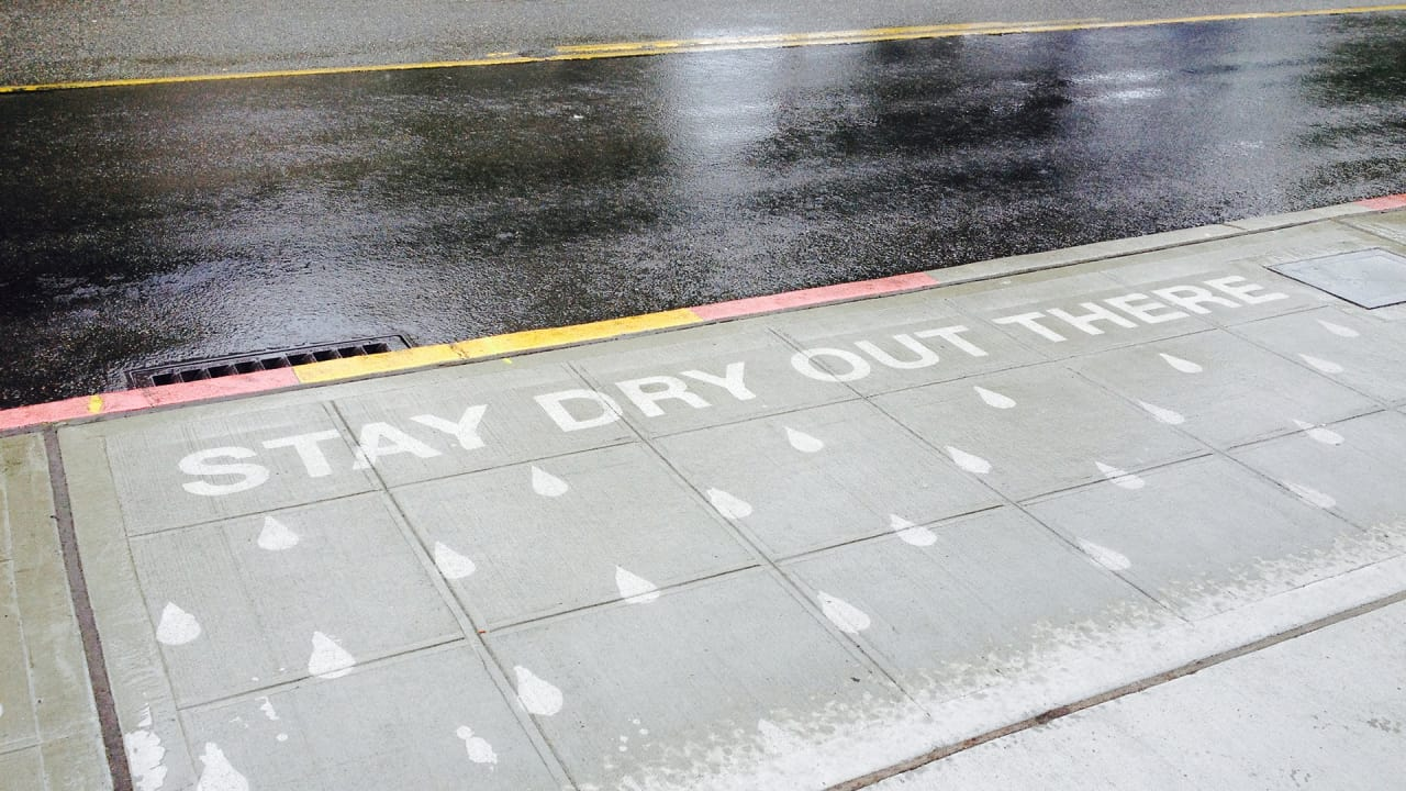 This Amazing Street Art Appears Only When It's Raining