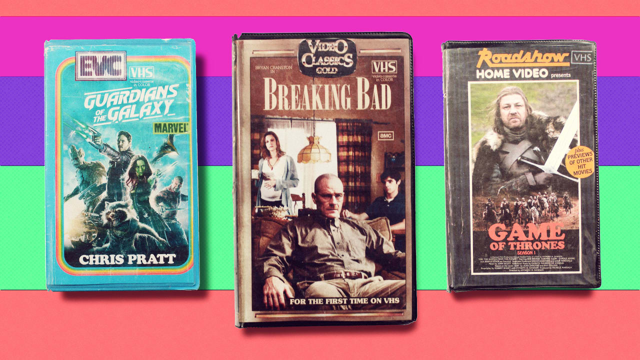 These Crappy VHS Cases For Breaking Bad, Game Of Thrones, And Other Modern Shows Look Like They Came Out Of A Time Machine