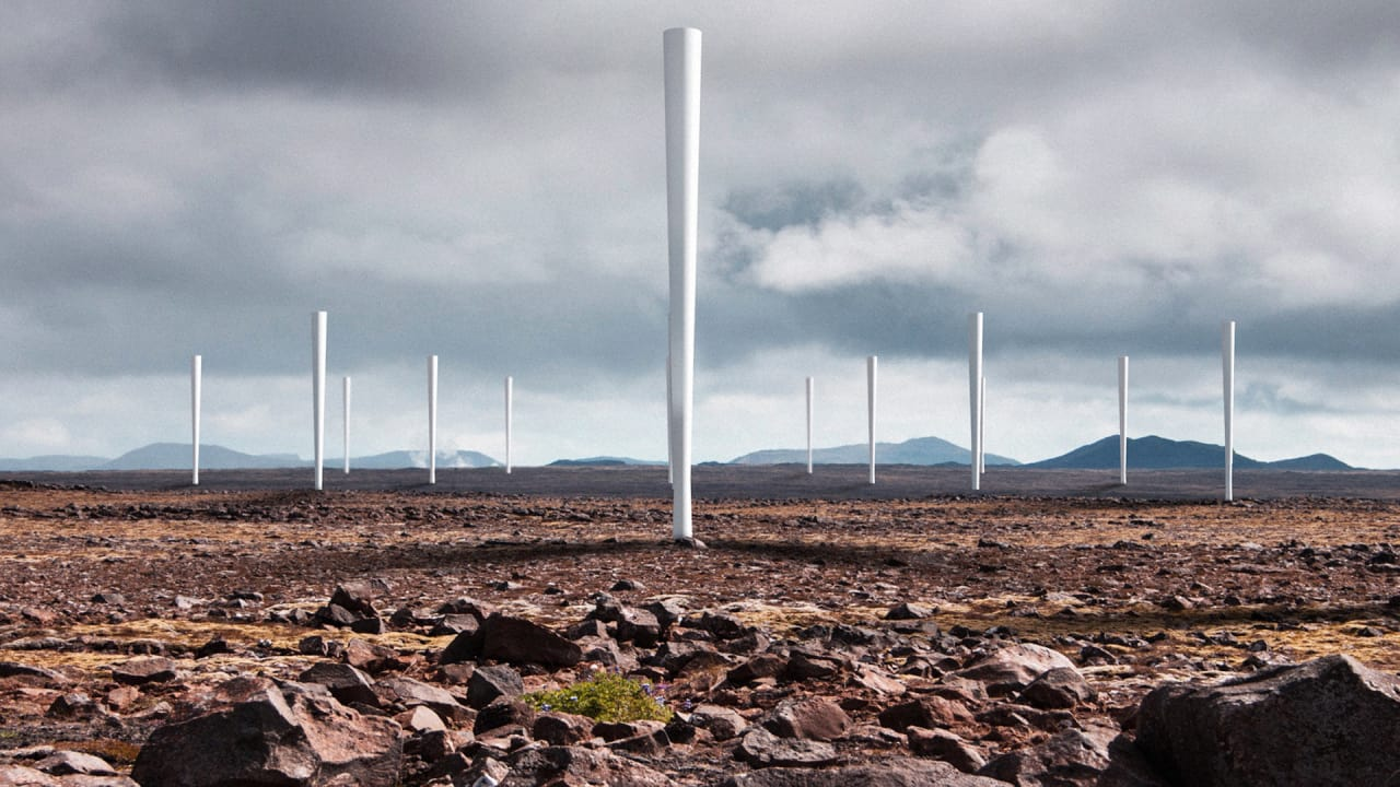 this silent straw like wind turbine can fit in your backyard