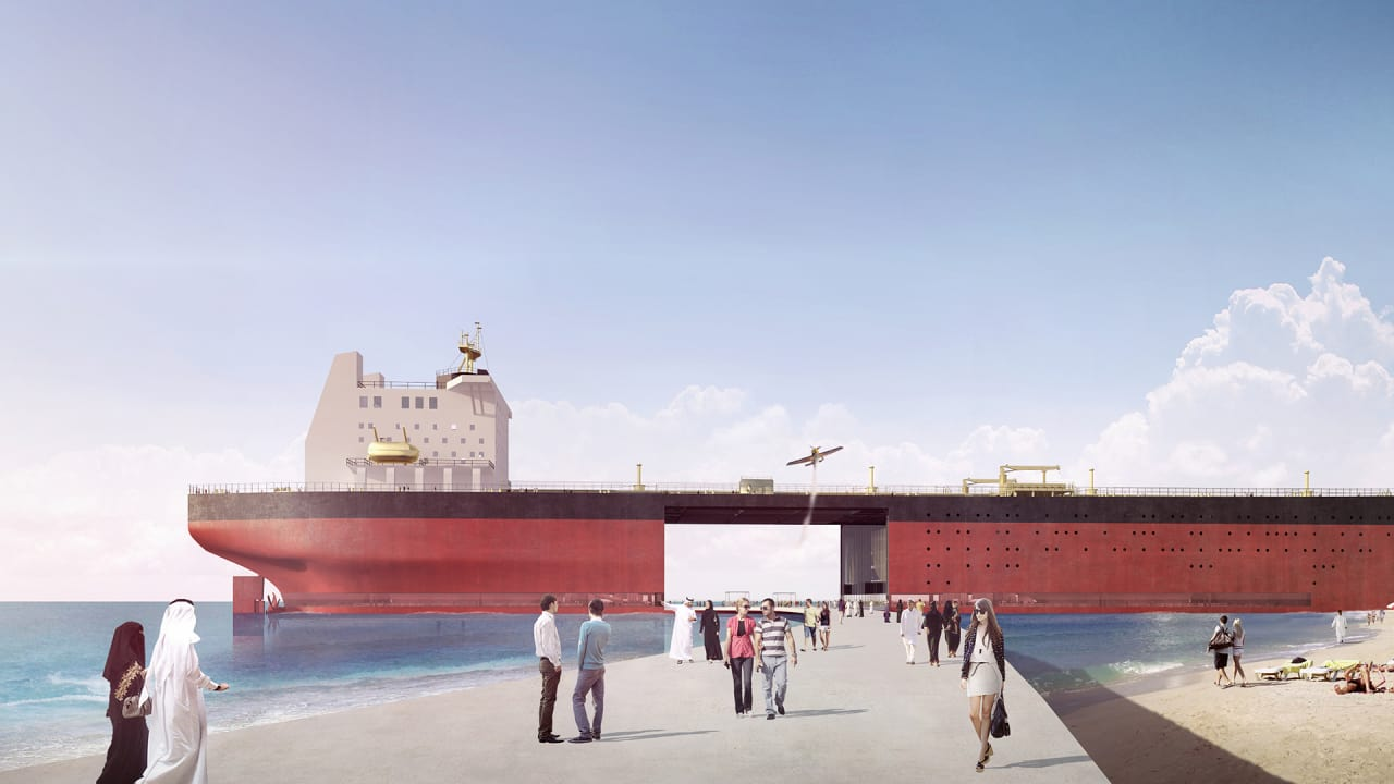 These Beautiful Floating Villages Are Made From Old Oil Tankers