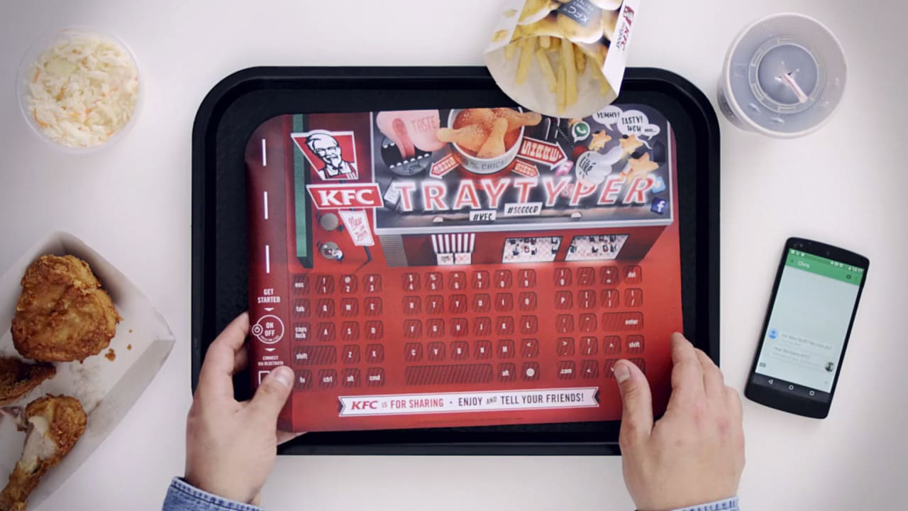 Sticky fingers? KFC Turns Its Tray Liners Into Keyboards For Smartphones