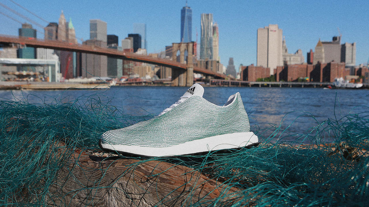 Adidas Knit These Sneakers Entirely From Ocean Plastic Trash