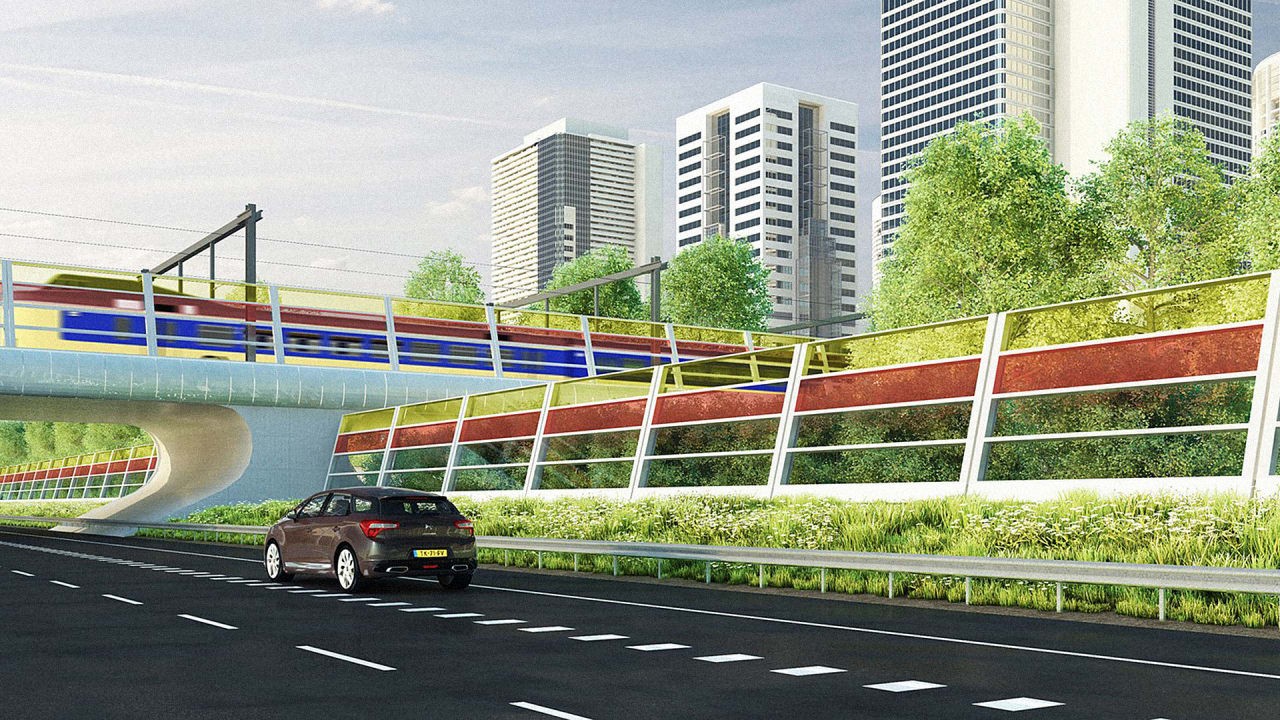 These Beautiful, Translucent Barriers Quiet Traffic–And Generate Power At The Same Time