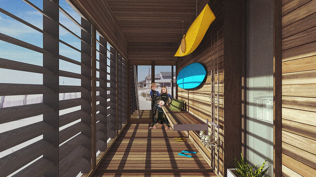This New Student-Designed Super-Resilient Home Is The Beach House Of The Flooded Future