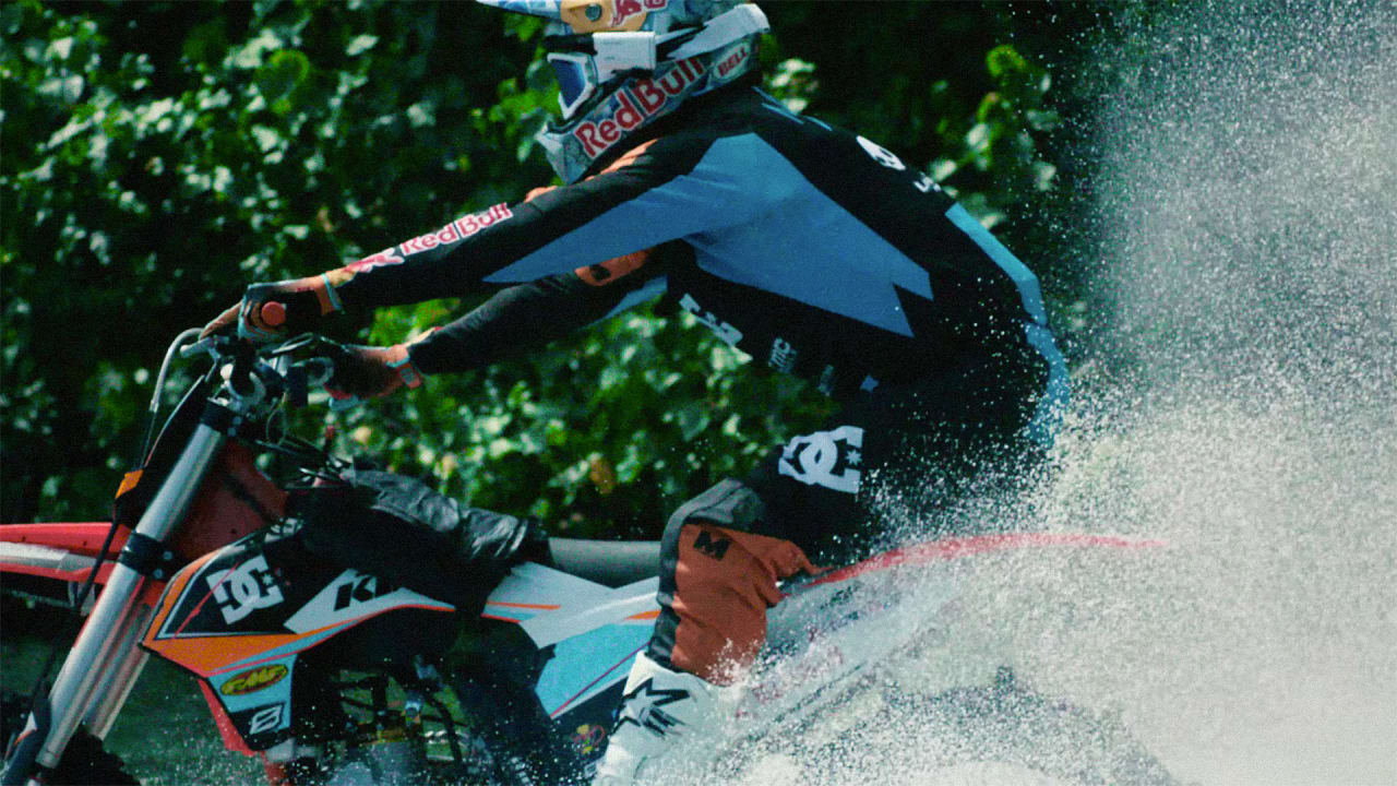 Yep, This Guy Went Surfing On A Motorbike And It's Awesome