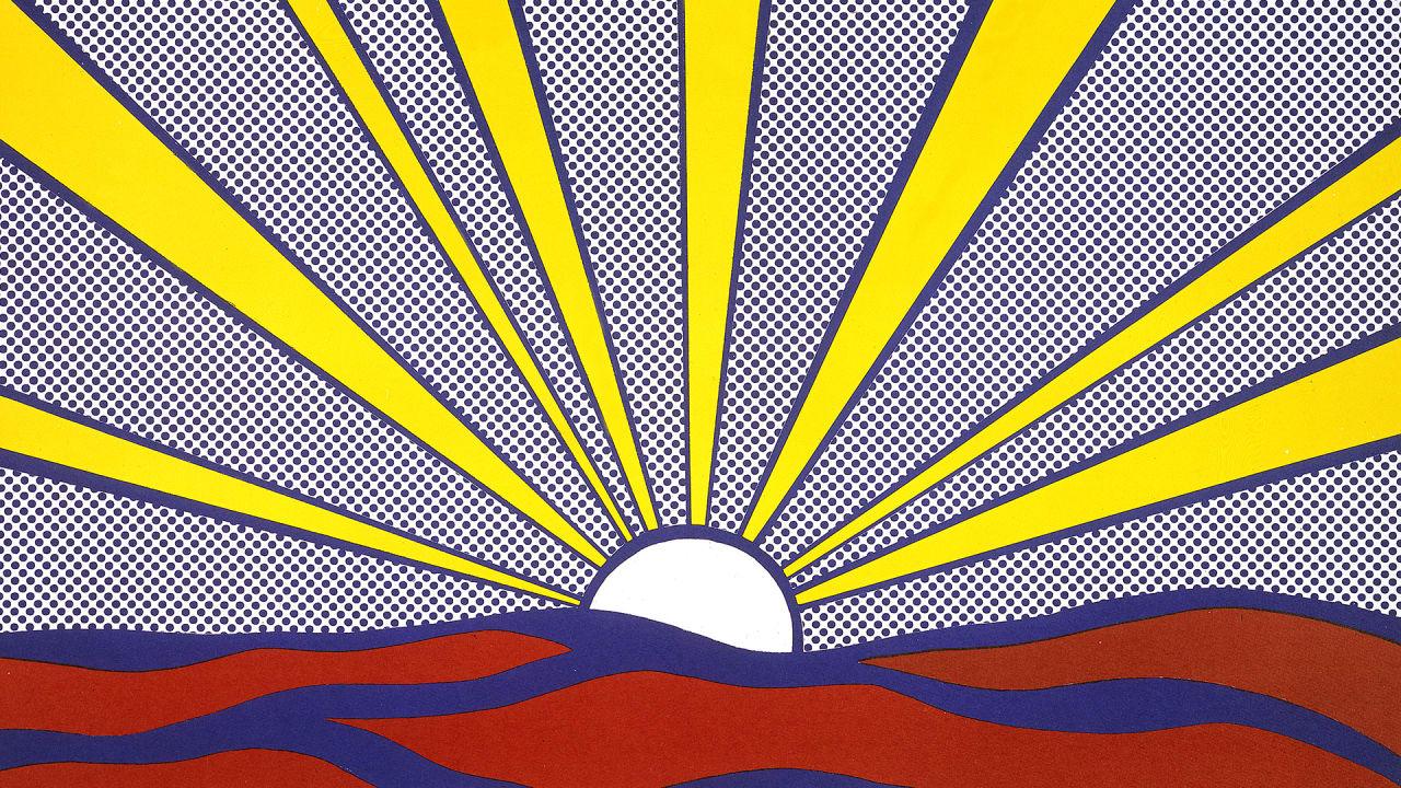 Spy the unsung psychedelic pop art landscapes of roy lichtenstein - Pop art roy lichtenstein obras ...