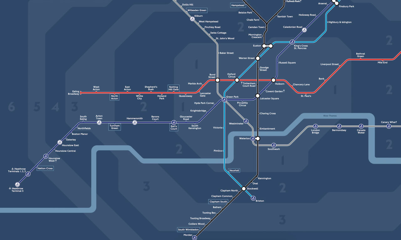 How londons new night tube map was made gumiabroncs Gallery