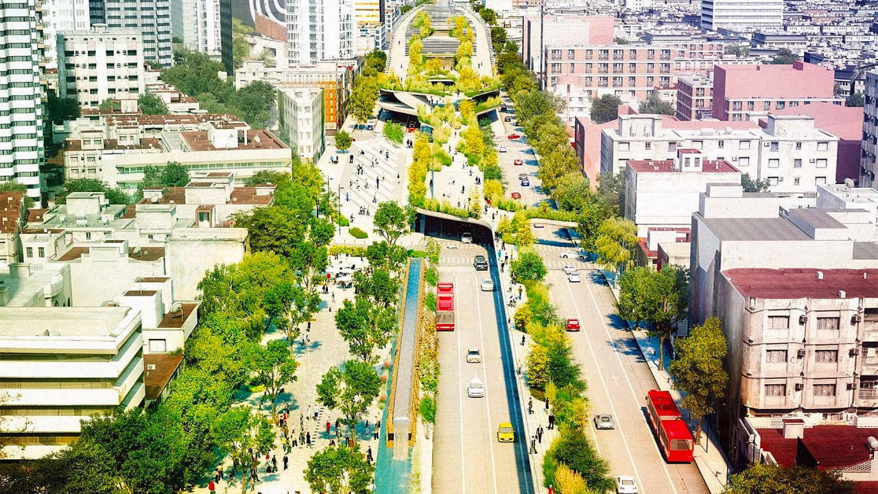 In Mexico City, A 10-Lane Highway Is Turning Into A Park