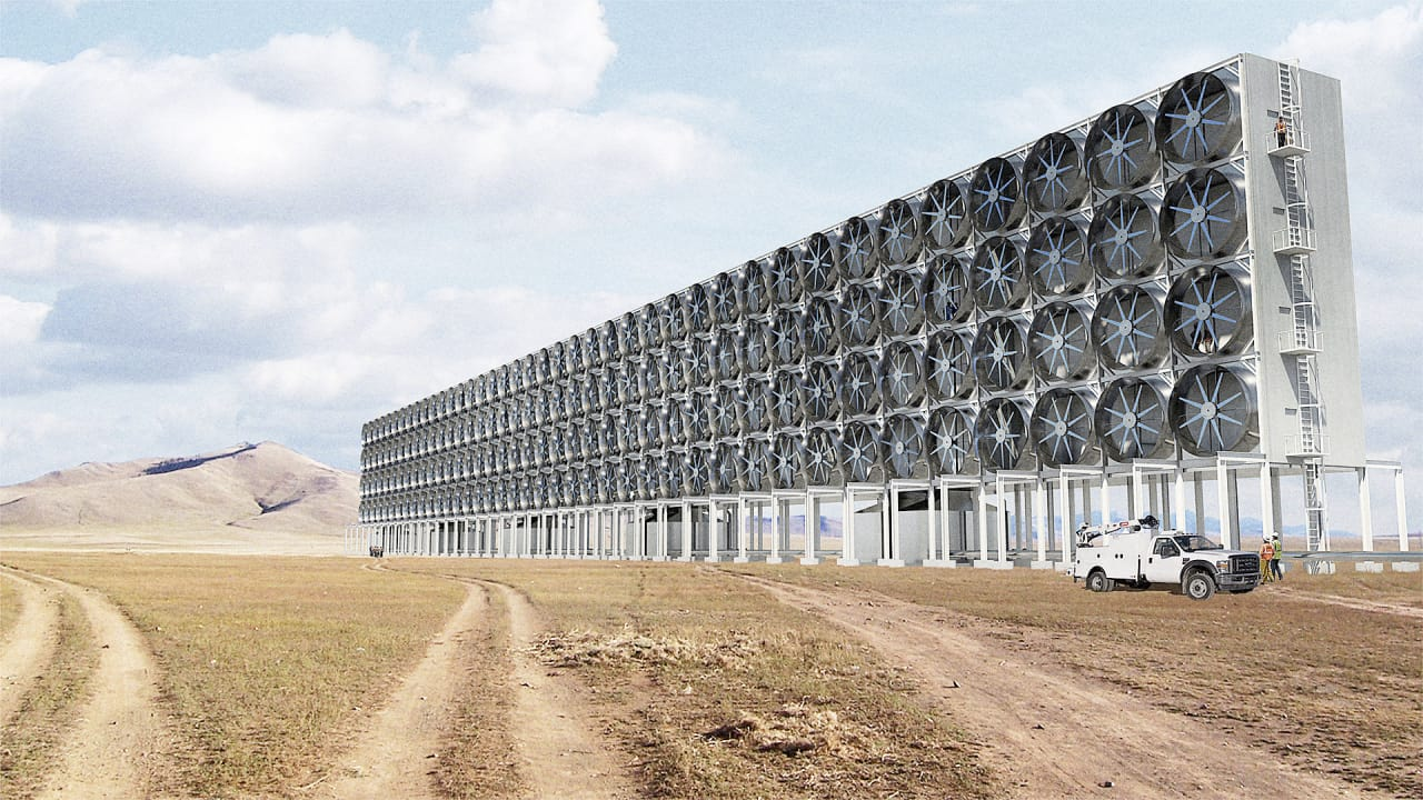These Enormous Fans Suck CO2 Out Of The Air And Turn It Into Fuel
