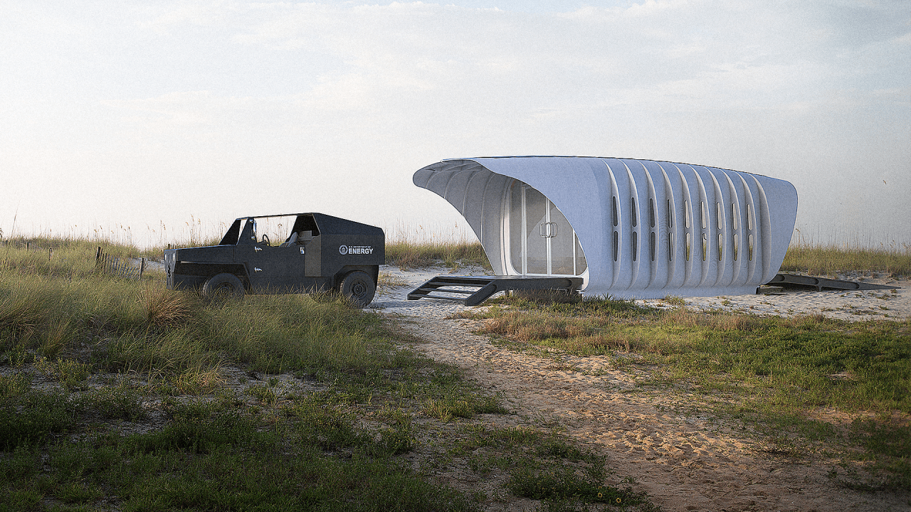 This 3-D-Printed House Gets All The Power It Needs From A Car
