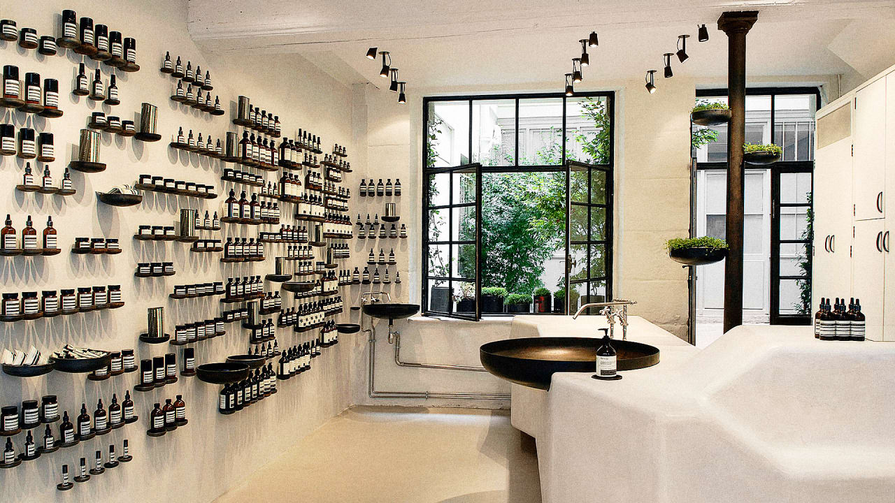 skincare brand aesop reveals its 4 secrets for standout retail design. Black Bedroom Furniture Sets. Home Design Ideas