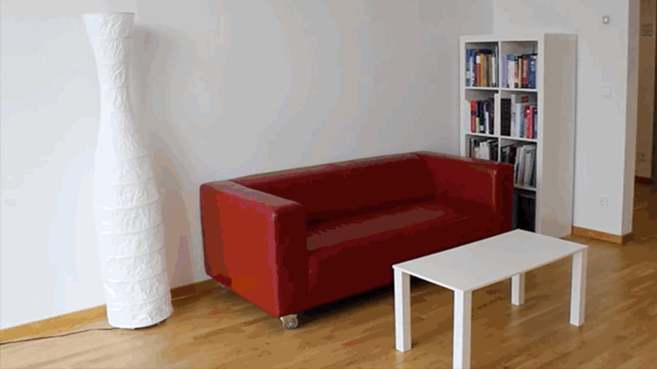 This quirky tool prototypes furniture out of tape for Quirky furniture