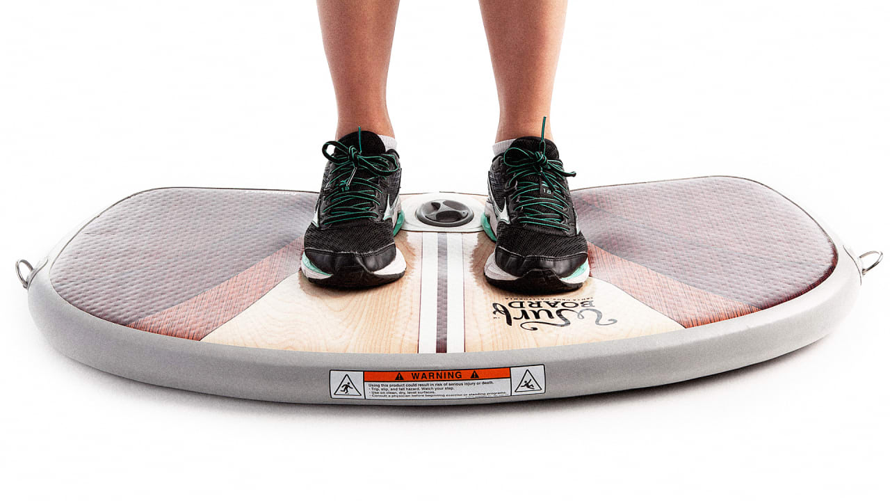 This Bouncy Platform Lets You Surf At Your Standing Desk
