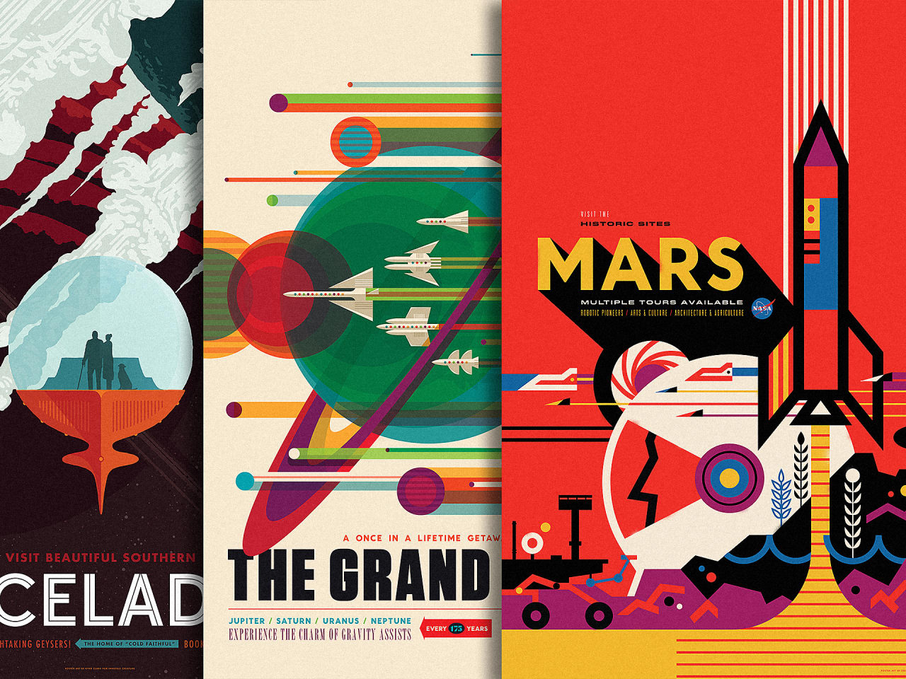Check Out NASAs New WPAInspired Ads For Space Tourism - Retro style posters from nasa imagine how the future of space travel will look