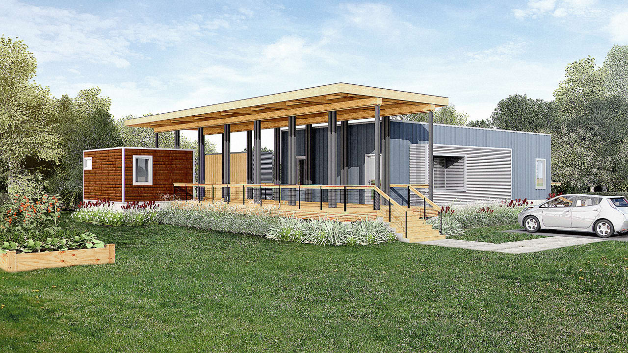 These $150,000 Prefab Houses Don't Need Any Energy From The Grid
