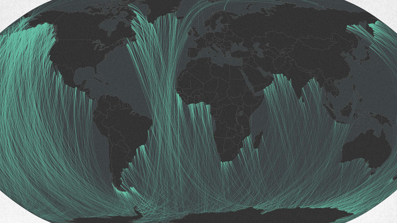 These Maps Show The Surprising Places A Straight Line Across The Ocean From You