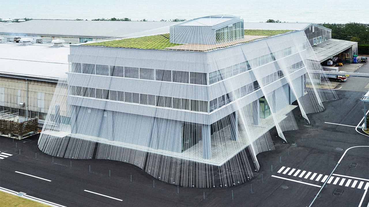 This Quake-Proof Japanese Building Uses A Net Of Rods To Prevent Shaking