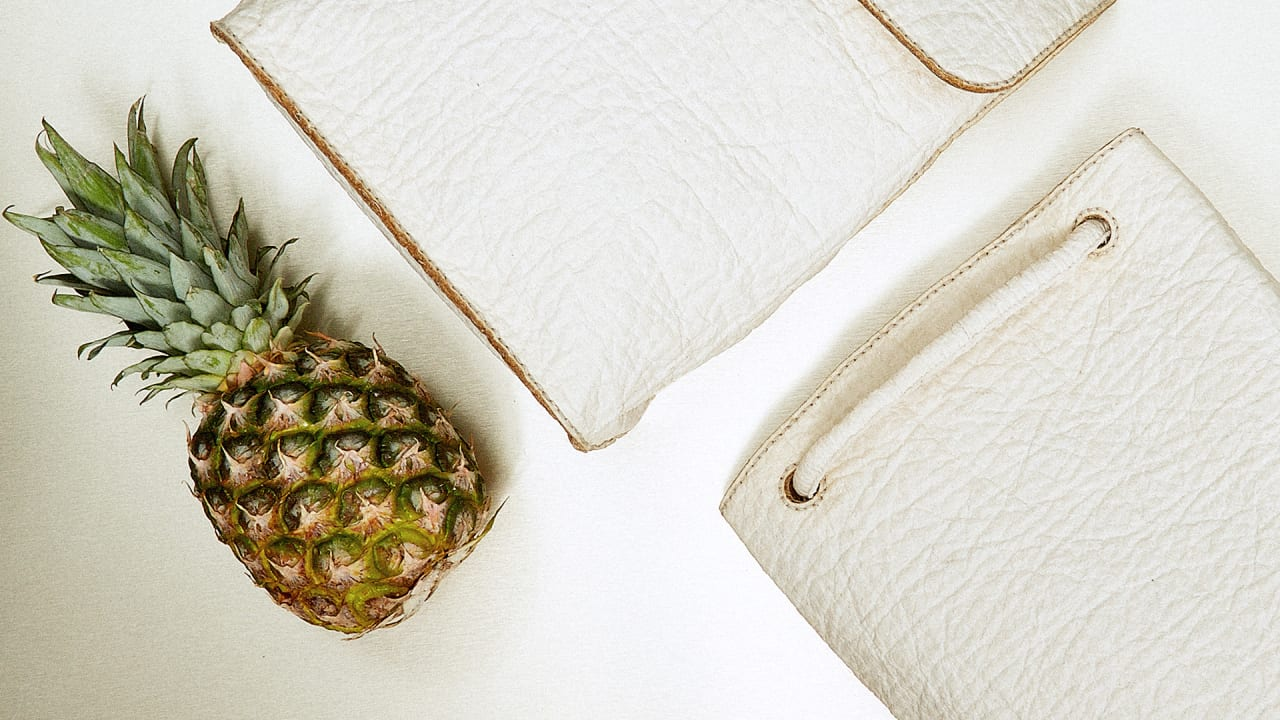 This Gorgeous Sustainable Leather Is Made From Pineapple Waste