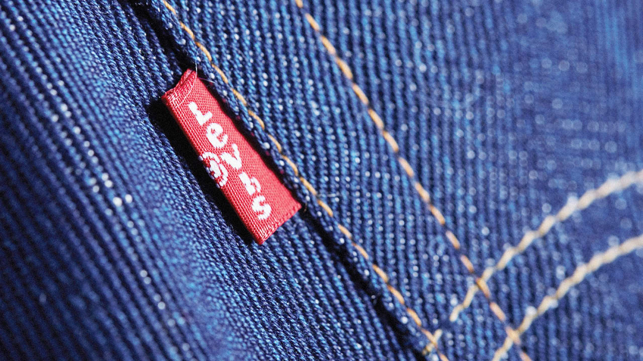 Where do you find 100 percent cotton jeans?
