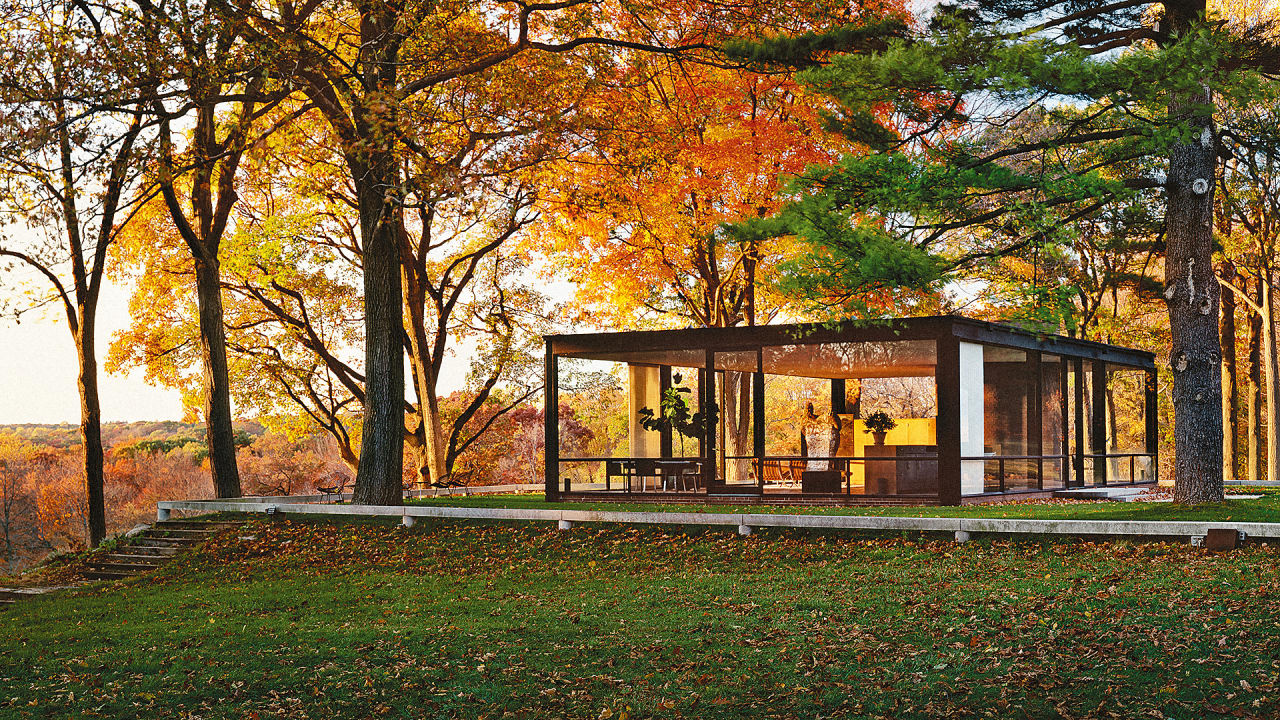 All the ideas philip johnson stole for his iconic glass house for All glass house plans