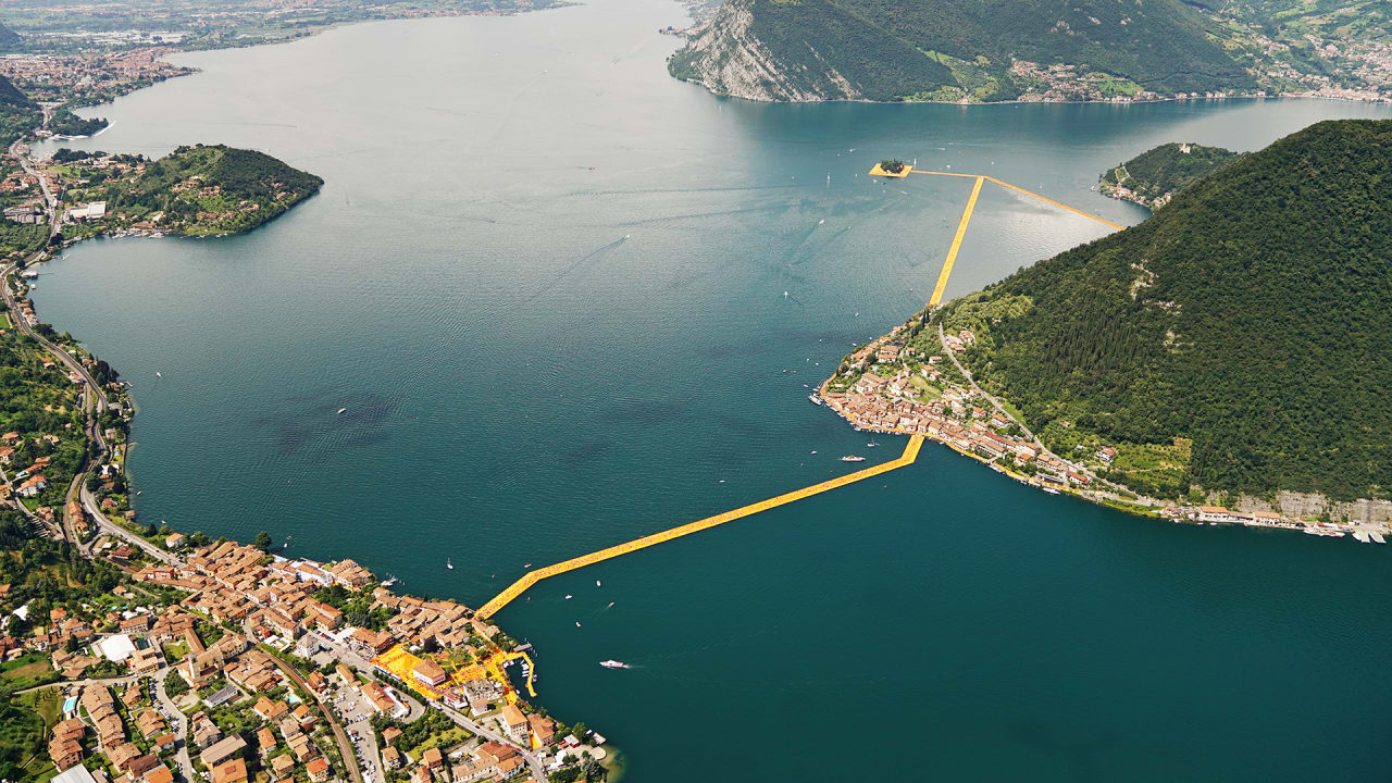 """Take A Close Look At Christo's """"The Floating Piers"""" Exhibit In Italy"""