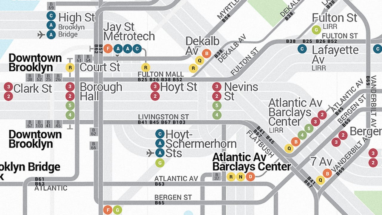 New York's Holy Grail Transit Map Is Here: The Bus And Subway In One Place