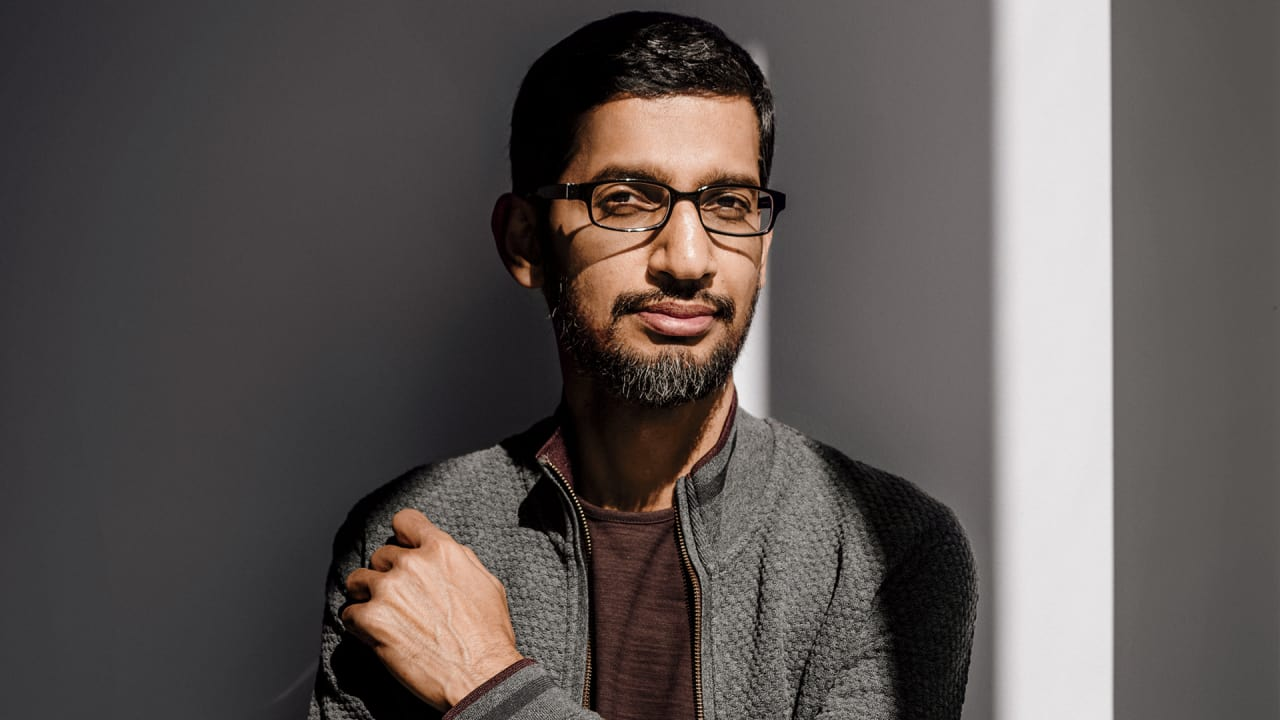 Image result for sundar pichai working