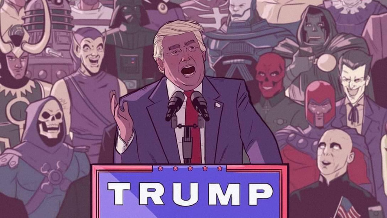 Is Today The Last Day For This Image Of Donald Trump Giving A Speech To Supervillains?