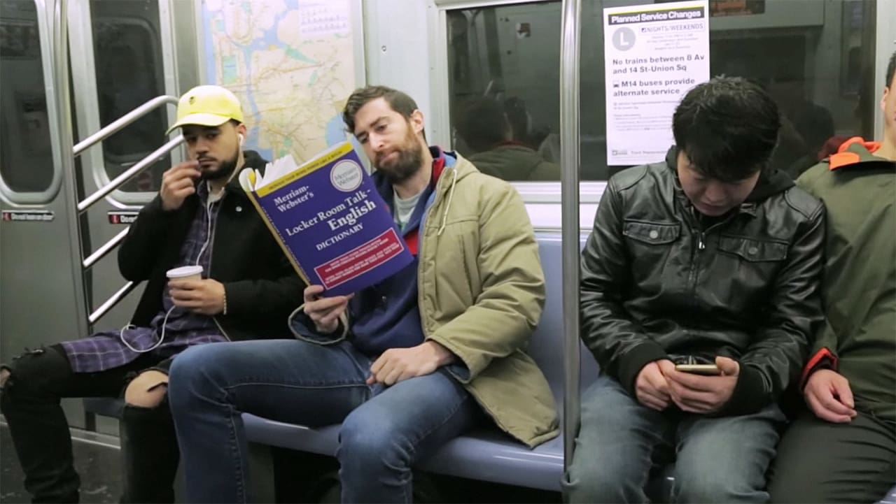 This Guy Casually Read Fake Books By Trump On The Subway, And People Lost It