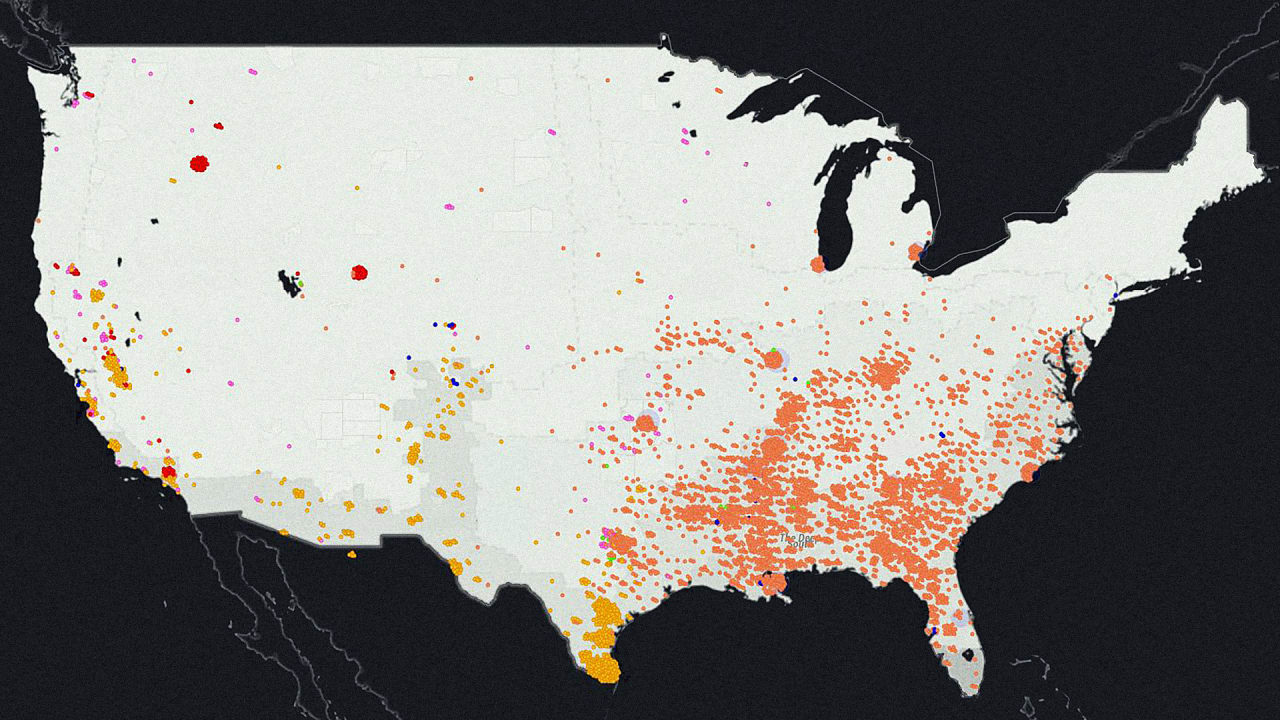Each Dot On This Map Is A Place Where A Person Of Color Was Lynched