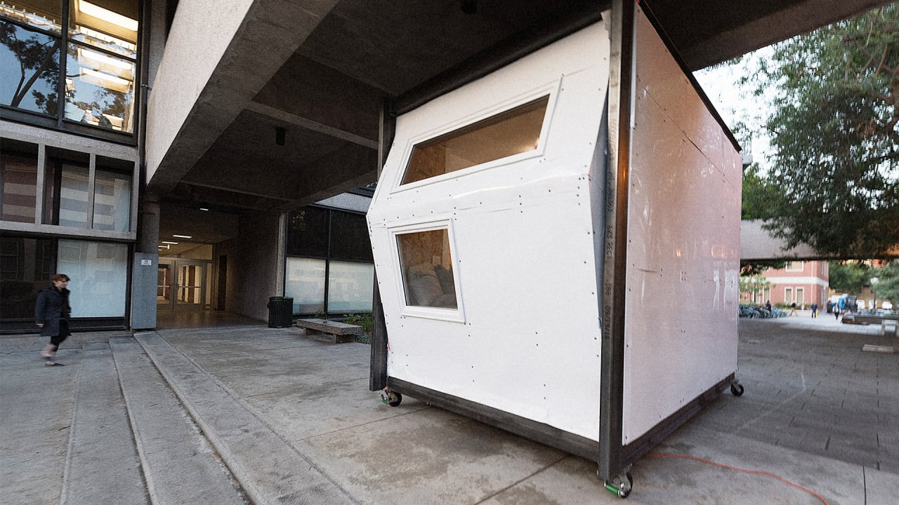 the 25k pod that could ease l a s homelessness crisis. Black Bedroom Furniture Sets. Home Design Ideas